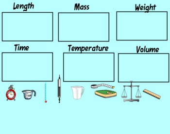 Measurement Tools Sort and Definitions