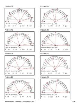 Measurement Tools (Standard Ruler, Metric Ruler, Protractor)