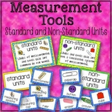 Measurement Tools Standard and Non-Standard Units Sorting Cards and Posters