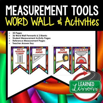 Measurement Tools Word Wall Pennants and Activity Pages (Science) #fooledyou