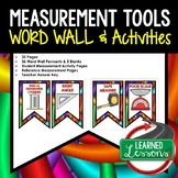 Measurement Tools Word Wall Pennants and Activity Pages (S