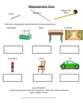 Measurement Tools Worksheet