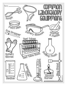 Measurement Tools and Common Lab Equipment Biology Doodle Diagram