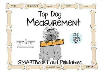 Measurement: Top Dog Measurement SMARTboard and Printables