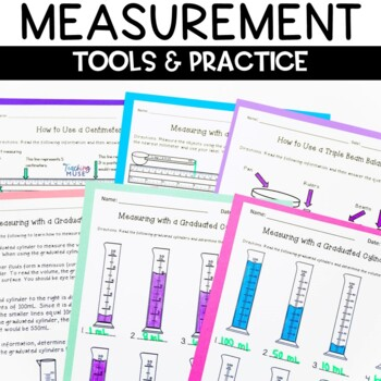 Metric Measurement Activities for Mass, Volume and Length Worksheets