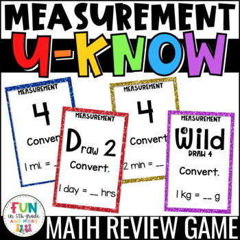 Measurement Game for Math Centers or Stations: Measurement Conversions