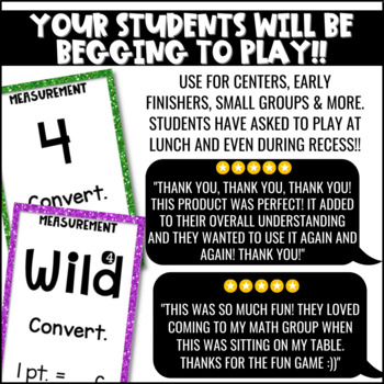 Measurement Game for Math Centers or Stations: U-Know   Measurement Conversions