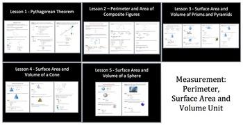 Measurement Unit: Perimeter, Surface Area and Volume - High School Mathematics