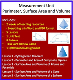 Measurement Unit: Perimeter, Surface Area and Volume - High School Mathematics