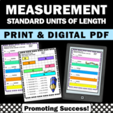 Measuring Length, Standard Measurement Worksheets, 2nd Grade Math Review