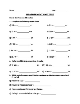 Measurement Unit Test