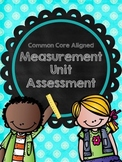 Measurement Unit Test- Aligned to 2nd Grade Common Core Standards