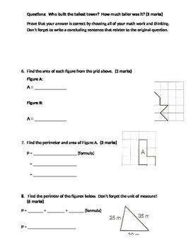Measurement Unit Test - metric conversions (mm, cm, m, km), perimeter, area