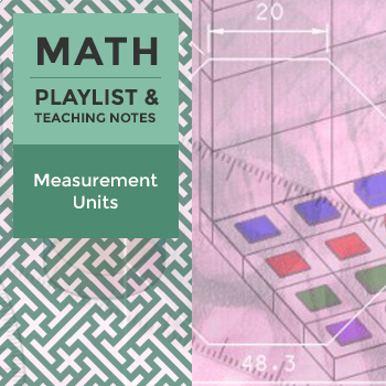 Measurement Units - Playlist and Teaching Notes