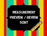 Measurement Units Sort Preview or Review Activity or Bulletin Board