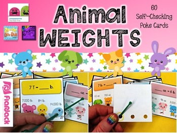 Measurement Units and Conversions Poke Cards Bundle (4.MD.A.1, 4.MD.A.2)