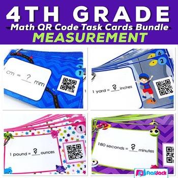 Measurement Units and Conversions QR Code Task Card Bundle