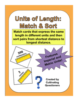 Measurement: Units of Length Match and Sort Math Center