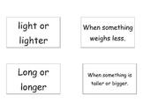 Measurement Vocab Cards