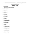 Measurement Vocab Defining Terms WS