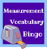Measurement Vocabulary Bingo Game