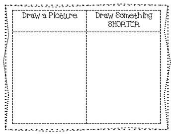 Measurement Vocabulary Book: Longer, Taller, Shorter, Smaller, etc.