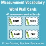 Measurement Vocabulary Cards