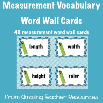 Measurement Vocabulary Cards