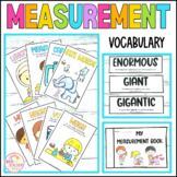 Measurement Vocabulary Cards Posters and Student Flipbook