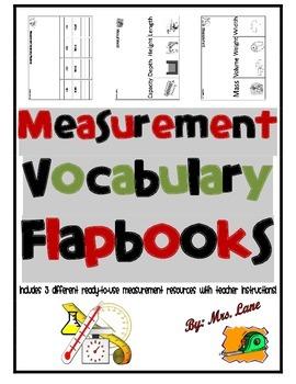 Measurement Vocabulary Flapbooks