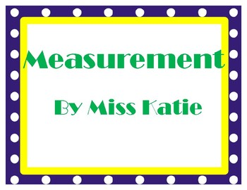 Measurement My Math 3rd Grade Vocabulary Posters