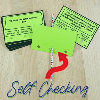 Measurement Vocabulary Poke Cards