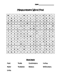 Measurement Vocabulary Word Find