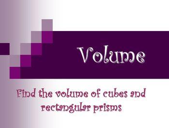 Measurement : Volume