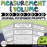Measurement & Volume Math Journal Prompts 5th Grade