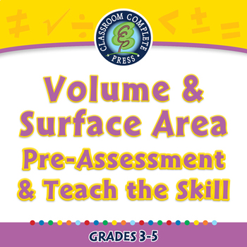 Measurement: Volume & Surface Area - Pre-Assessment & Teach the Skill - PC Gr. 3