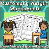 Measurement:  Weight Worksheet