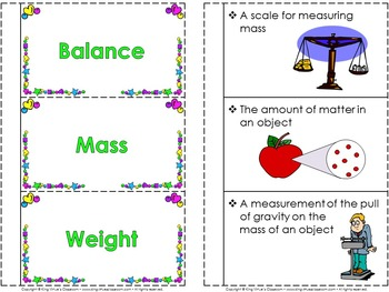 Measurement: Weight and Mass Interactive Notebook BUNDLE - Customary and Metric