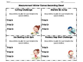 Measurement Winter Olympics Activities