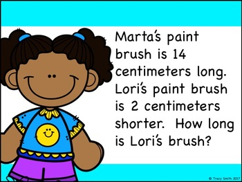 Measurement Word Problems - Length (Customary and Metric). NO PREP! 2.MD.B.5