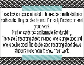 Measurement Word Problem TASK CARDS - 2.MD.5