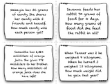 Measurement Word Problem Task Cards