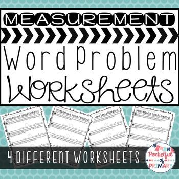 Measurement Word Problem WORKSHEETS - 2.MD.5