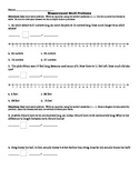 Measurement Word Problem Worksheet 2.MD.5