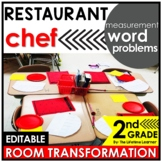Measurement Word Problems 2nd Grade   Chef Room Transformation