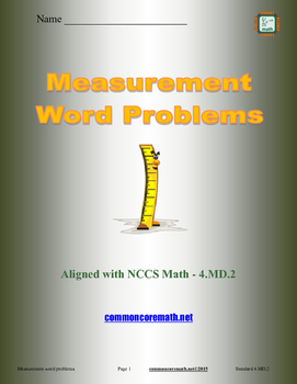 Measurement Word Problems - 4.MD.2