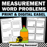 Measurement Word Problems Worksheets, 4th Grade Math Review 4.MD.A.2