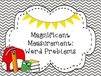 Measurement Word Problems - Aligned to Common Core for Second Grade