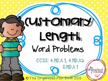 Measurement Word Problems (Common Core Aligned)