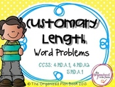 Measurement Word Problems (Common Core Aligned)